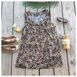 Just In.. Plus Size Leopard Sleeveless Tunic